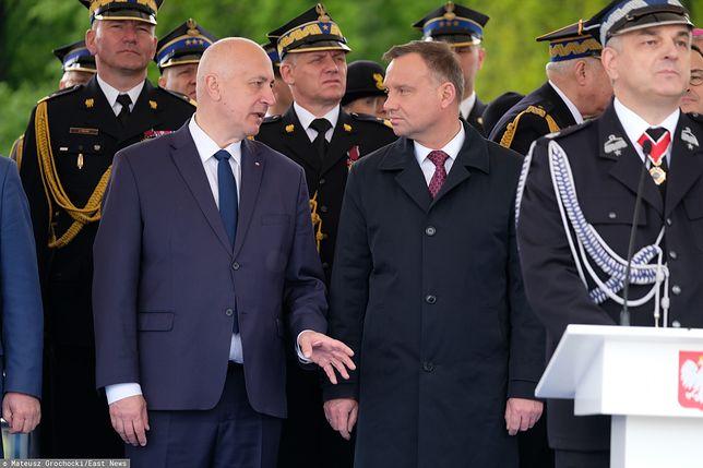 Wybory prezydenckie. Europoseł Joachim Brudziński i prezydent Andrzej Duda.