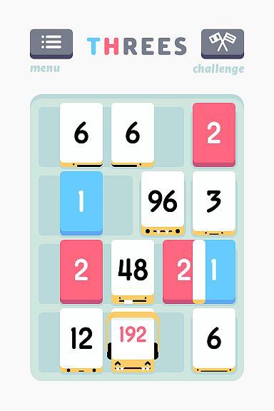 Threes! to niezwykle popularna gra logiczna, na bazie której powstało kilkadziesiąt klonów