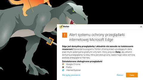 Pakiety Norton odradzają korzystanie z przeglądarki Microsoft Edge
