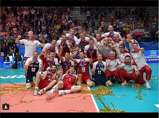 Złoci medaliści Mistrzostw Świata Siatkarzy 2018 [instagram.com/fivbwch]