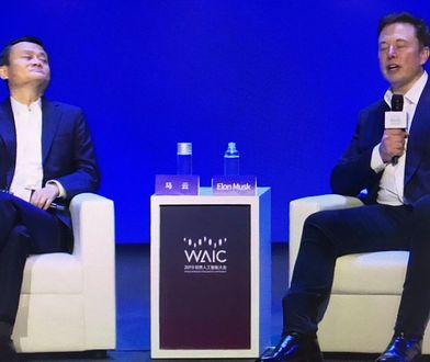 Elon Musk i Jack Ma w Szanghaju.