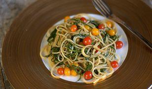 Spaghetti z agretti, czyli makaron z solanką. Prosty przepis