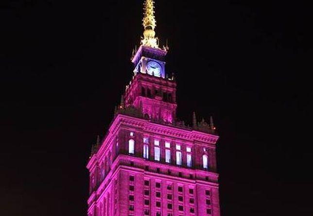 Oświetlą PKiN na różowo!