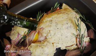 Kurczak pieczony z masłem ziołowym