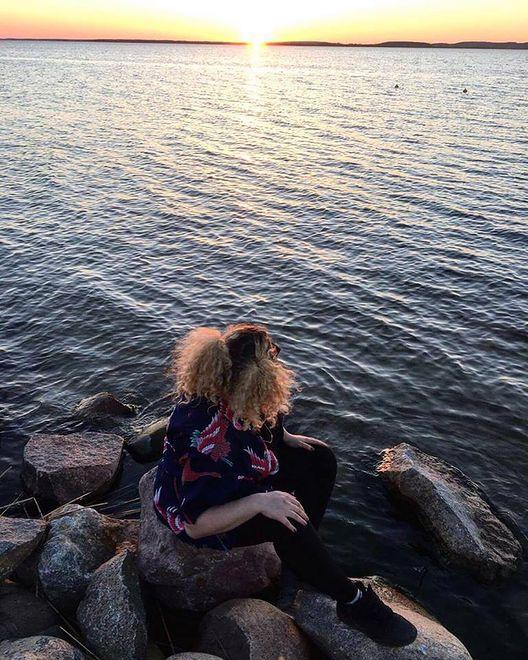 Gabrysia i zachód słońca
