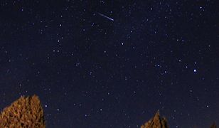 KUTAHYA, TURKEY - AUGUST 13: A Perseid meteor streaks across the sky over Domanic district of Kutahya in Turkey on August 13, 2019. (Photo by Serdar Yigit/Anadolu Agency via Getty Images)