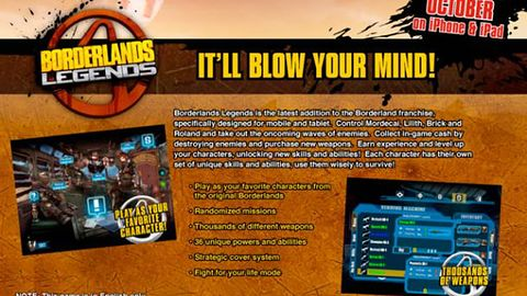 Nie wiem czy wiecie, ale Borderlands trafi również na iOS-a