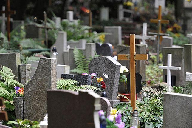 Nastolatek zniszczył krzyż na grobie