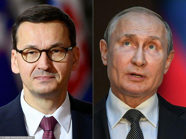Władimir Putin i spór z Polską. Ambasada Rosji komentuje oświadczenie Mateusza Morawieckiego