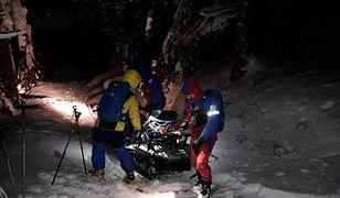 Do akcji skierowano dwa zespoły ratowników GOPR z Sekcji Operacyjnych Szczawnica i Krościenko