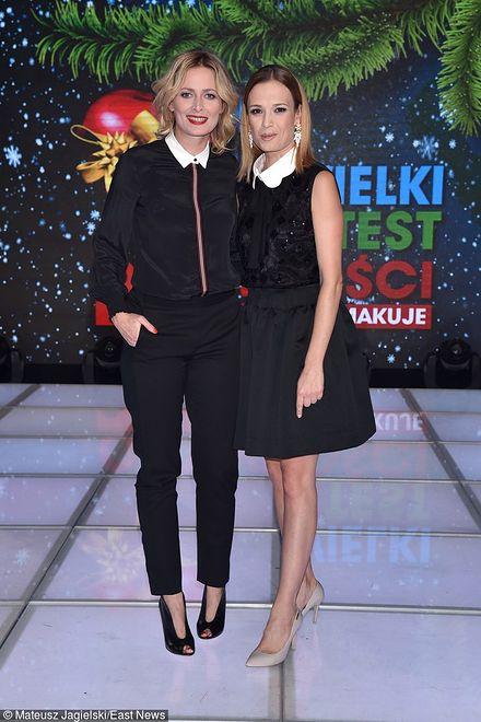 Paulina Chylewska i Gwiazdka black and white
