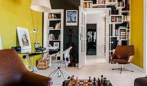 Kolorowe mieszkanie w stylu vintage. Flower power