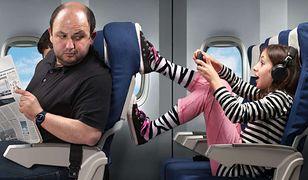 Za najbardziej wkurzające zachowanie, jakiego można doświadczyć ze strony innych osób, z którymi znajdujemy się np. na pokładzie tego samego samolotu, uznano kopanie w fotel