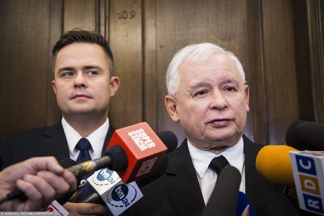 Adam Hofman i Jarosław Kaczyński