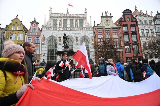 Gdańsk. Parada Niepodległości przeszła ulicami Gdańska 11 listopada