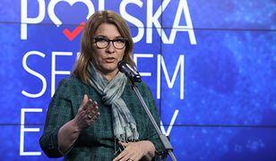 Beata Mazurek broni projektu PiS