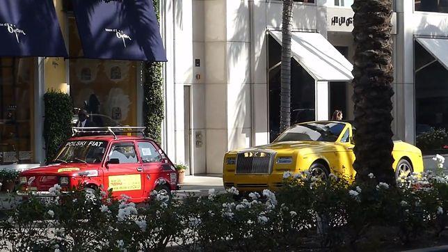 Polak postawił Malucha na najdroższej ulicy w USA. Reakcje turystów nagrywał ukrytą kamerą