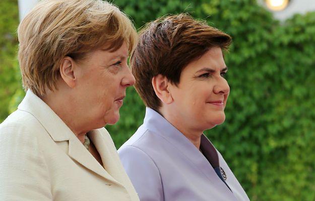 Angela Merkel i Beata Szydło podczas spotkania w Berlinie