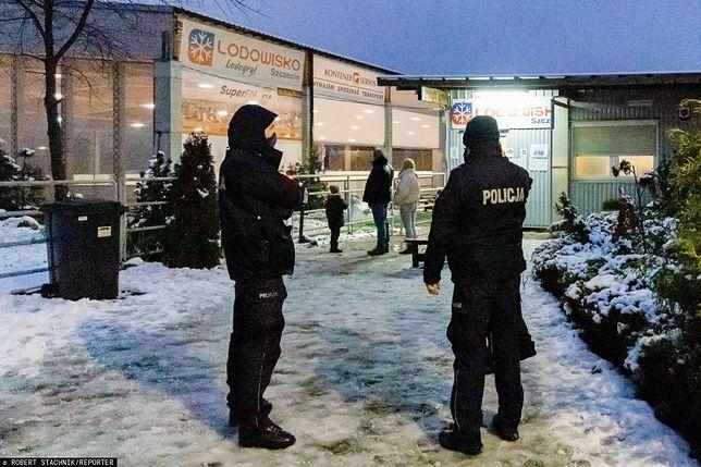 Koronawirus. Lodowisko w Szczecinie działa nadal. Właściciel twierdzi, że nie boi się surowej kary finansowej i powtarzających się interwencji służb