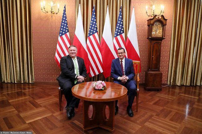 15 sierpnia. Mike Pompeo w Polsce. Spotkał się z premierem Mateuszem Morawieckim