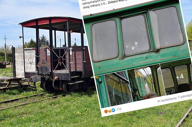 Zabytkowa lokomotywa zdewastowana. Zatrzymano dzieci