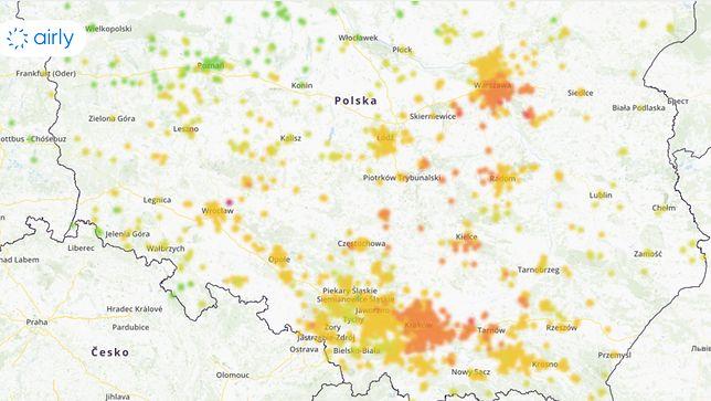W niedzielę największy smog jest w centralnej i południowej części kraju.