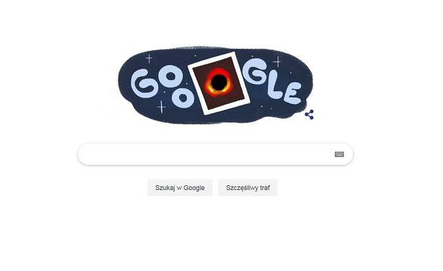 Pierwsze zdjęcie czarnej dziury w Google Doodle