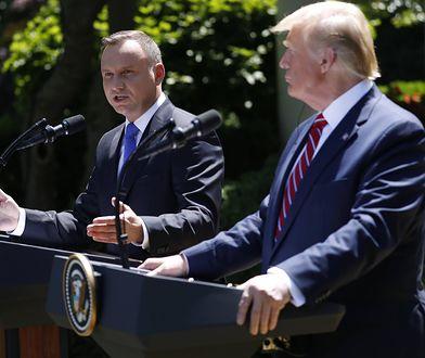 Prezydenci Andrzej Duda i Donald Trump. Konflikt z Iranem buduje obu przed wyborami prezydenckimi.