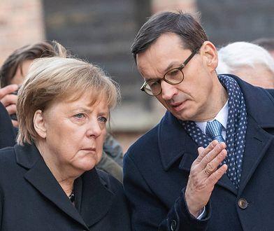 Angela Merkel i Mateusz Morawiecki w obozie w Auschwitz