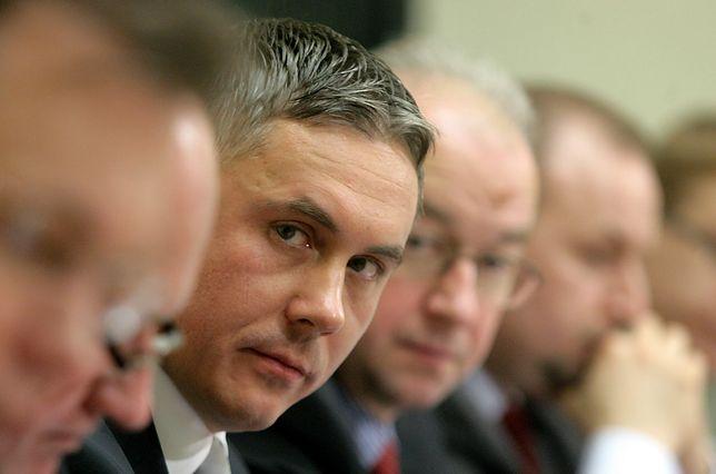 Sebastian Karpiniuk podczas posiedzenia sejmowej komisji śledczej, badającej naciski na służby specjalne (2009 r.)
