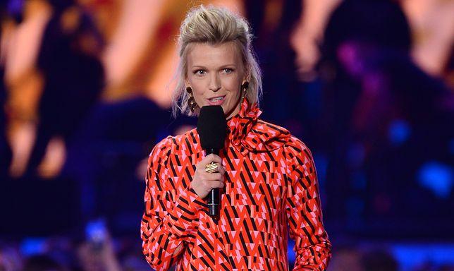 Magda Mołek postawiła na oryginalny wizerunek. Nie było eleganckiej sukni i szpilek