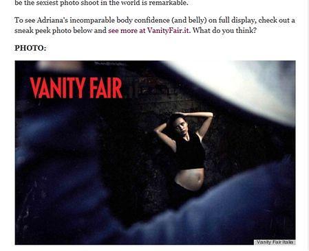 Adriana Lima w ciąży pozuje do kalendarza Pirelli