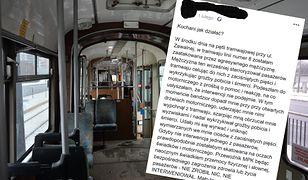 Została zaatakowana w tramwaju. Dyrekcja MPK się tłumaczy