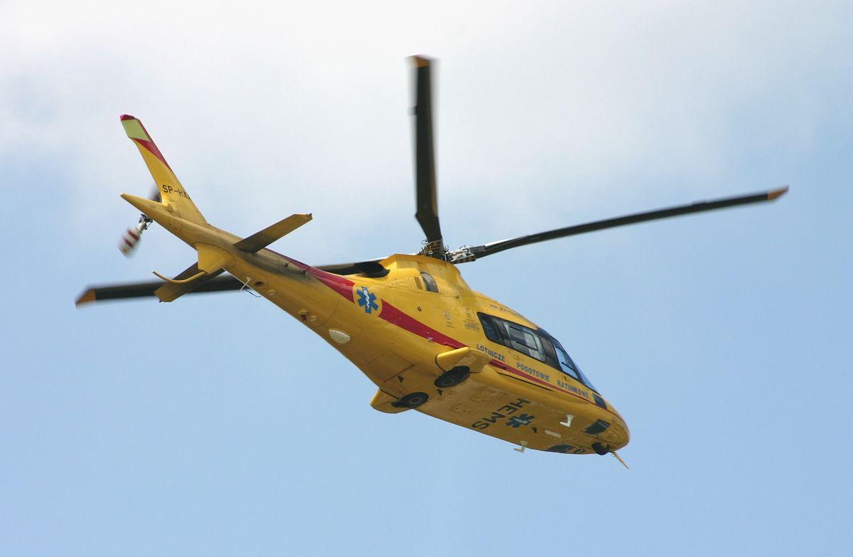 Wypadek na DK 22. Lądował śmigłowiec LPR
