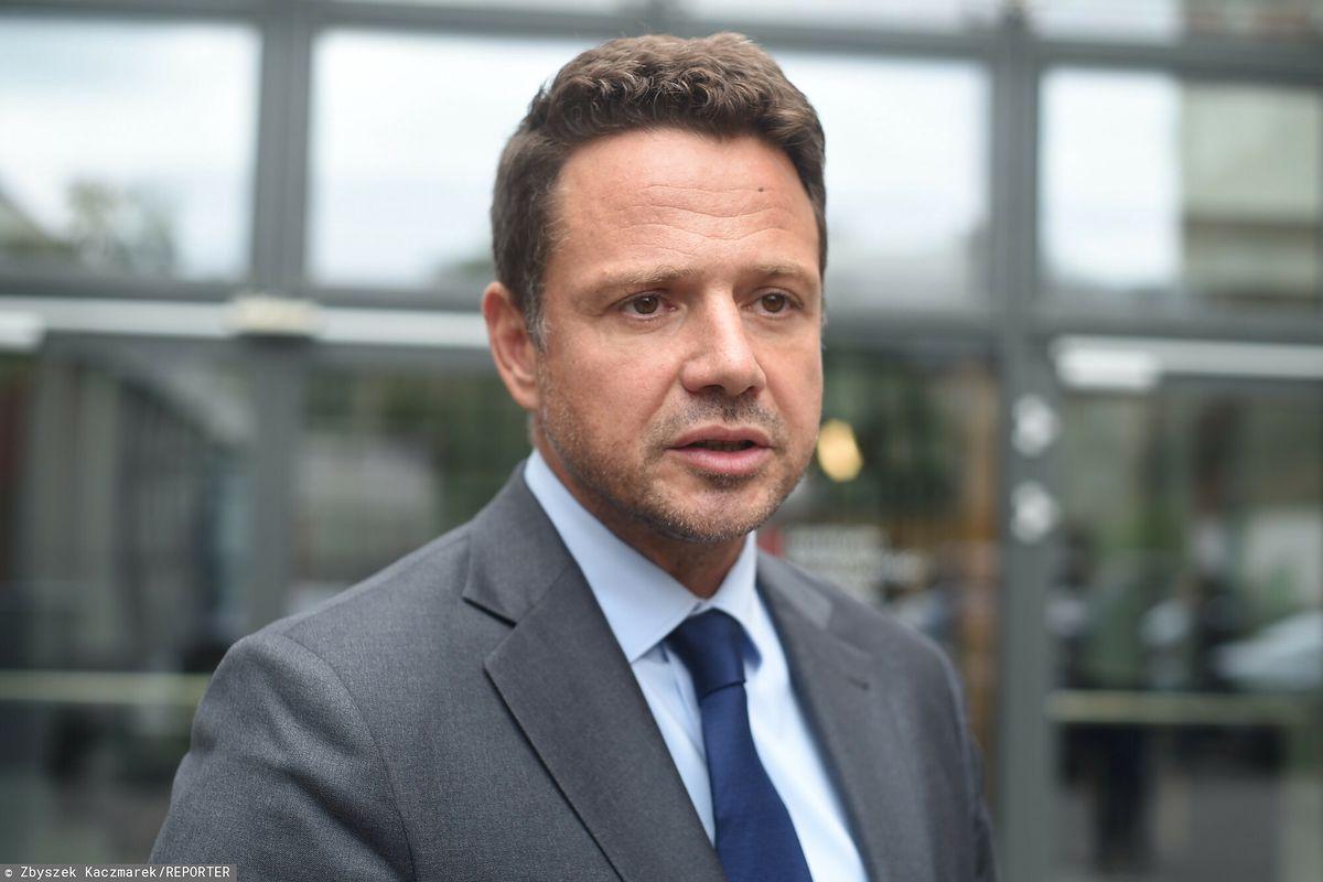 Rafał Trzaskowski przemawiał podczas wizyty w Budapeszcie