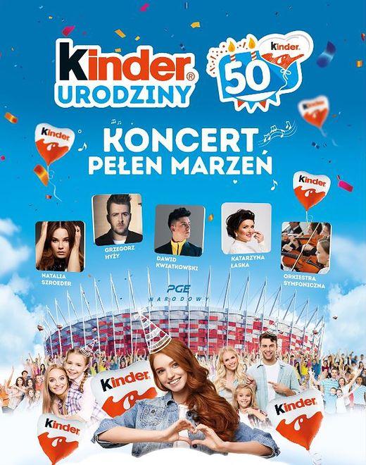 Kinder zaprasza do wspólnego świętowania swoich 50.urodzin na PGE Stadionie Narodowym!