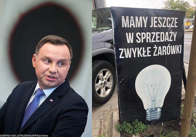 Andrzej Duda uważa, że zakaz sprzedaży tradycyjnych żarówek jest jednym z powodów Brexitu