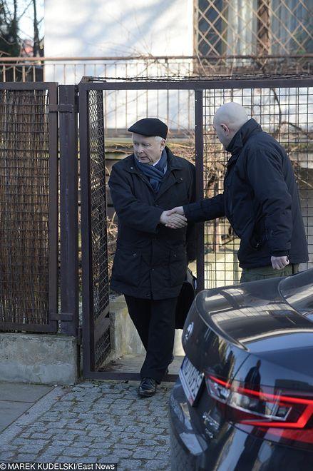 Prezes Jarosław Kaczyński chroniony jest na co dzień przez ochroniarzy z Grom Group