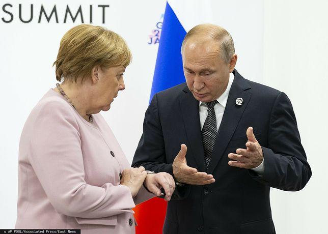 Aleksiej Nawalny aresztowany. Angela Merkel reaguje na wyrok sądu (na zdjęciu z prezydentem FR Władimirem Putinem)