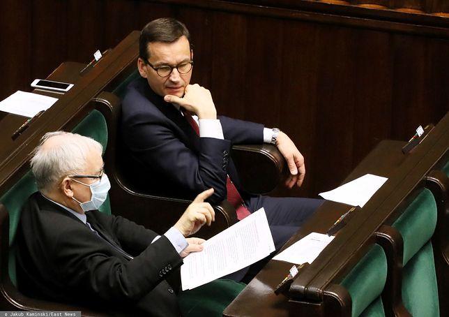 Jarosław Kaczyński i Mateusz Morawiecki w ławach sejmowych