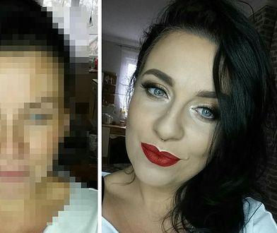 Gracjanna Błaszczyk w make-upie i bez