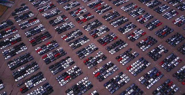 Jeden z parkingów Volkswagena