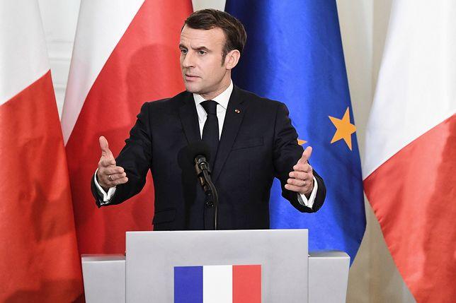 Emmanuel Macron odwiedził Polskę