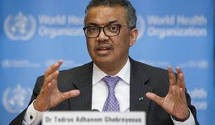 Koronawirus na świecie. Szef WHO Tedros Adhanom Ghebreyesus: Restrykcje nie ugaszą pandemii