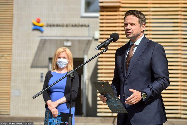 Warszawa. Rafał Trzaskowski reaguje na wydarzenia na Białorusi
