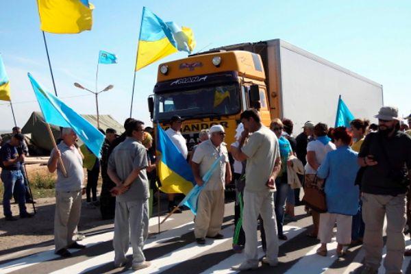 Tatarzy zablokowali dostawy żywności na okupowany Krym