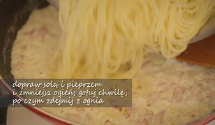 Spaghetti carbonara. Klasyczny włoski przepis