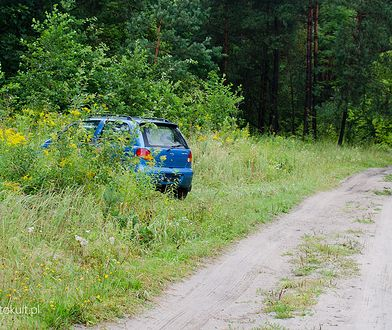 Trzeba też uważać przy samym wjeździe do lasu. Często jest to zakazane