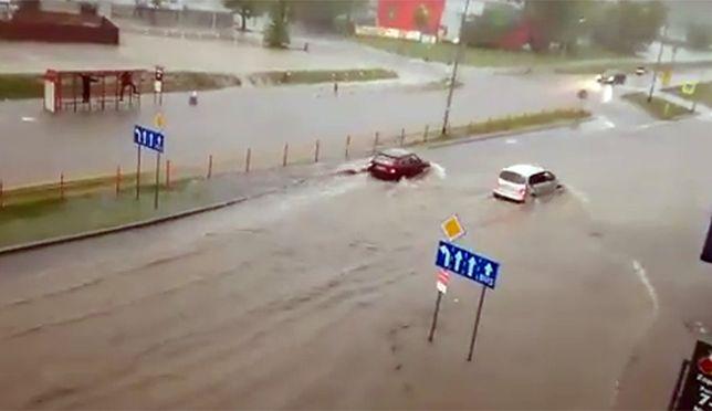 Białystok pod wodą. Zalane ulice i tunele
