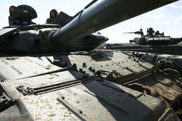 Ćwiczenia rosyjskiej armii; zdjęcie archiwalne